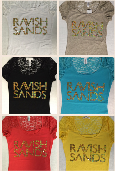 Ravish Sands Lace Sequin Tees