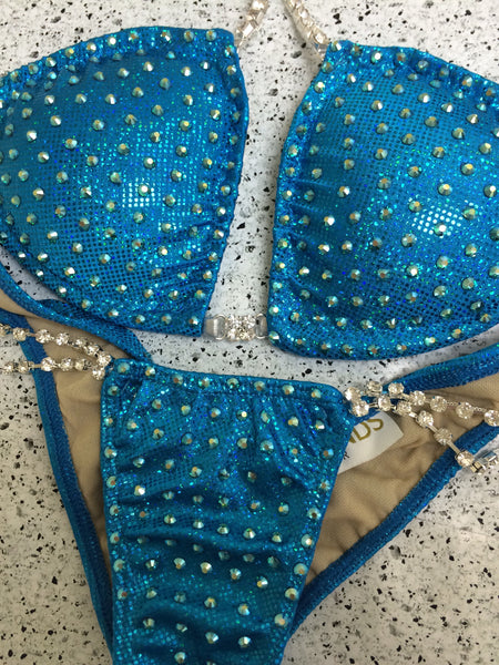 Quick View Competition Bikinis Turquoise Bling Bombshell Elite