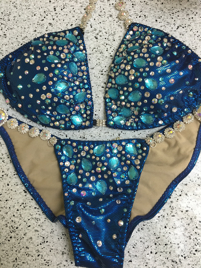 Quick View Competition Bikinis Blue Diamond Star