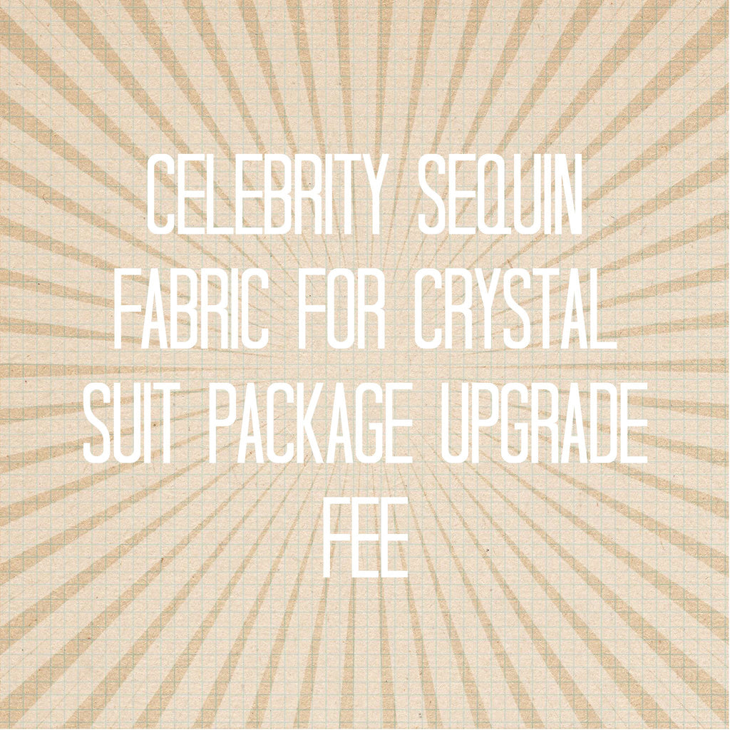 Use Sequin Fabric for Crystal suit package