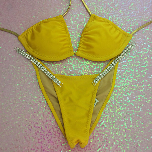 Honey Yellow Standard Top/ Brazilian Cheeky Quick Ship