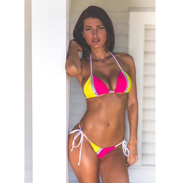 Color Block Ravishing String Bikini(any color request welcome)