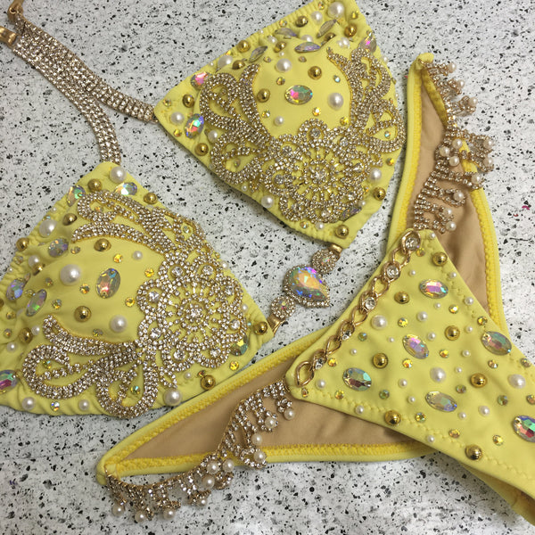 Custom Golden Pearl Themewear Bikini and wings $529 or bikini only $439