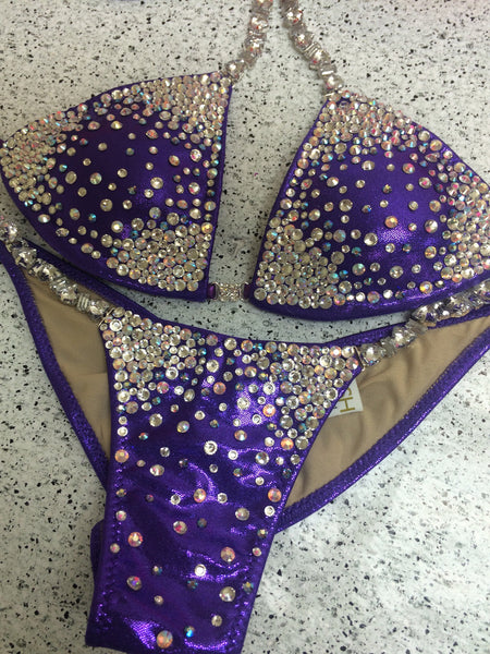 Quick View Competition Bikinis Purple Bubbles Diamond Princess Starburst celebrity