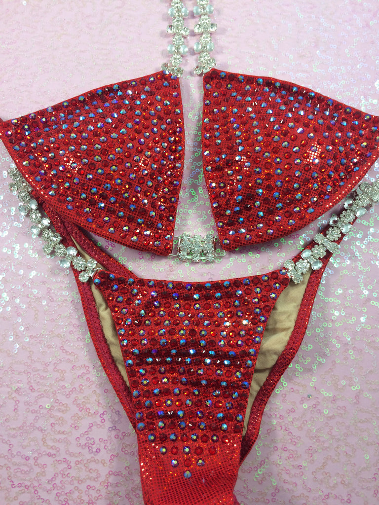 Quick View Competition Bikinis Red Bling Bombshell Celebrity