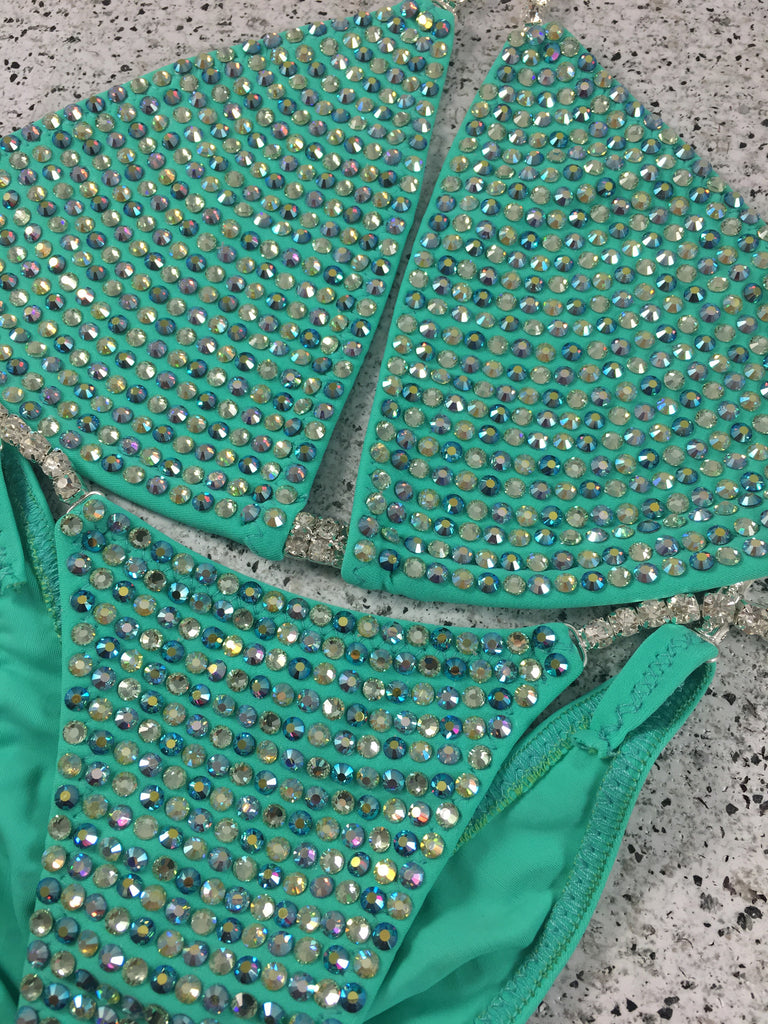 Quick View Competition Bikinis Mint Green Bombshell Bling Luxe