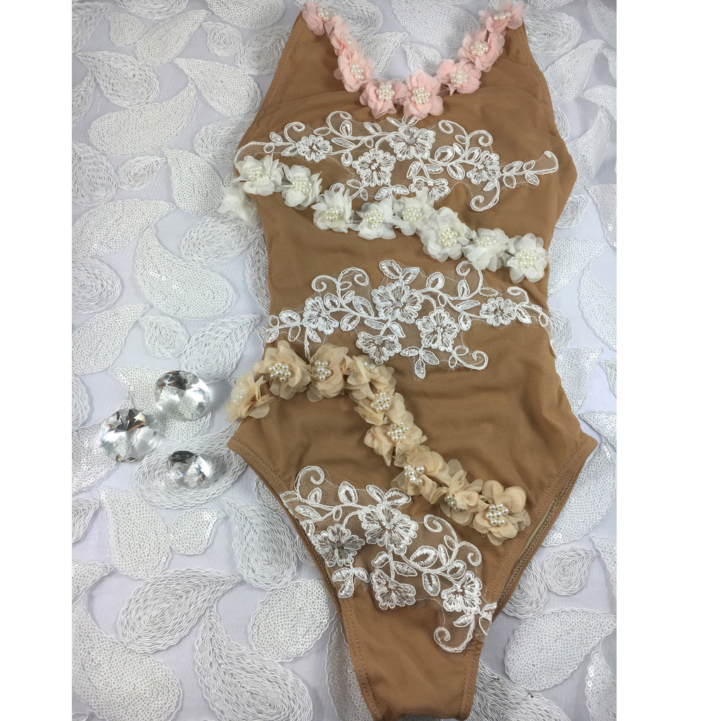 Custom One Piece Bikini Wedding Day at Paradise