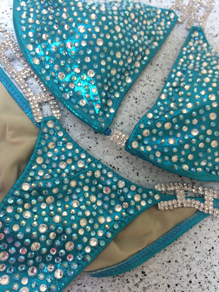 Quick View Competition Bikinis Turquoise Mesmerize PLUS