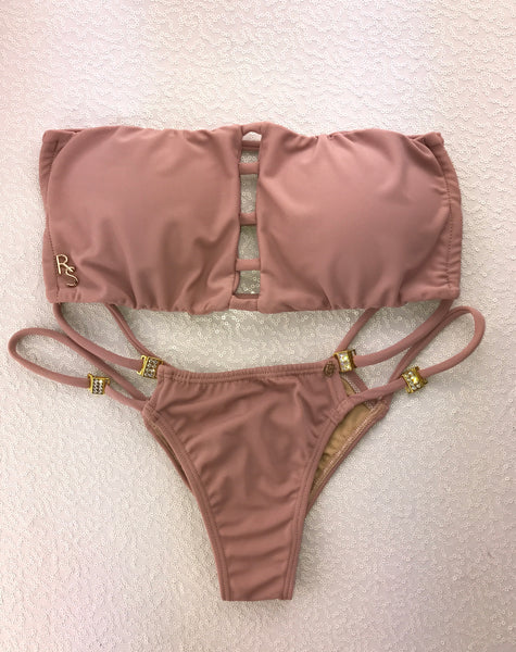 Custom Dusty Rose Vixen Seamless Bikini (We size to measurements)