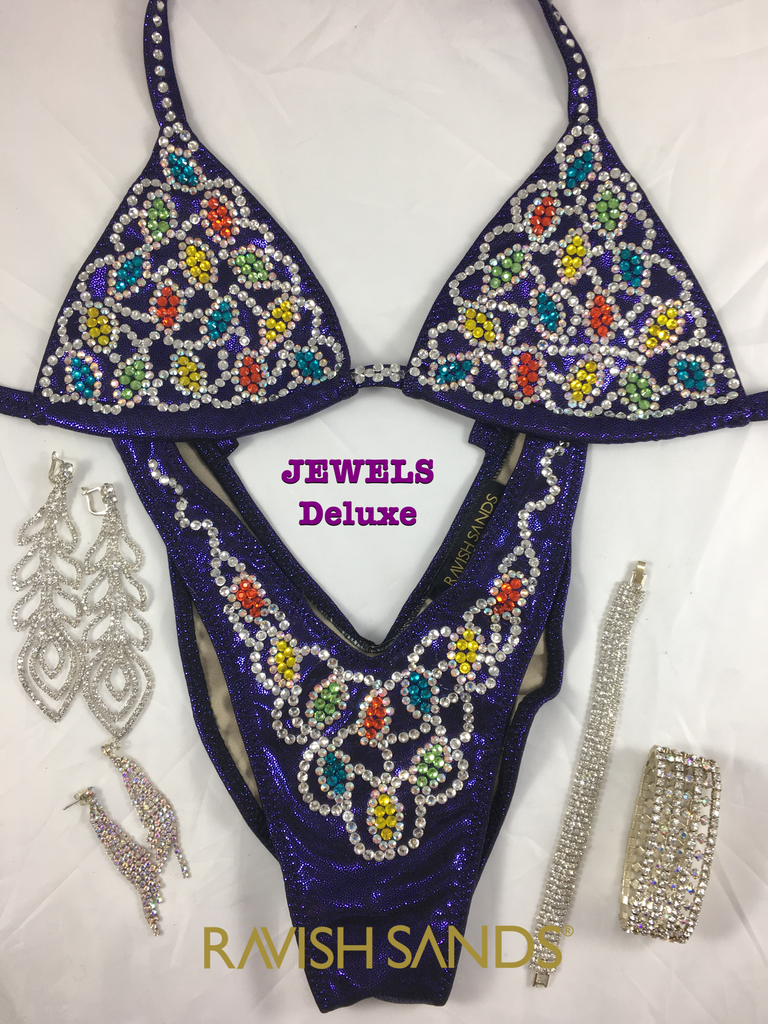 Rental Deep Purple Figure suit Jewels Deluxe - A/B cup
