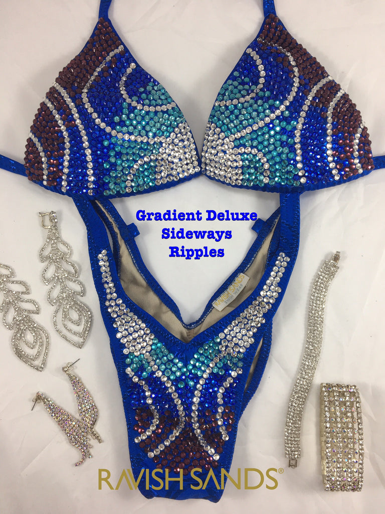 Custom Figure Suit - Gradient Sideways Ripples - $655+