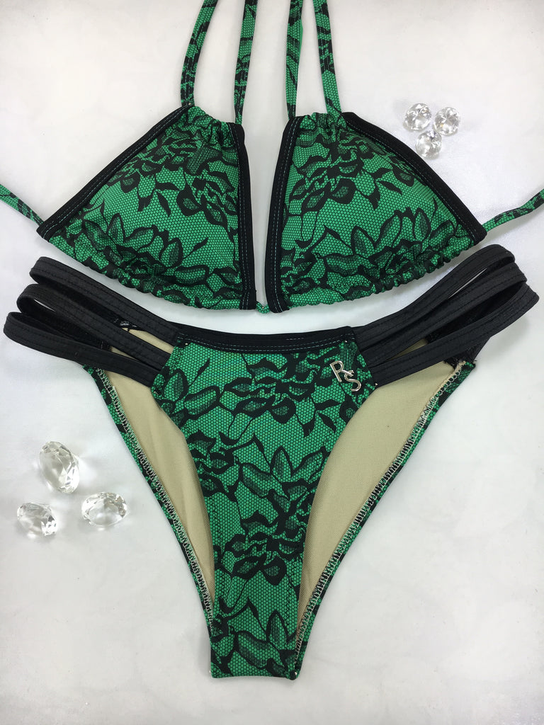Custom Green/Black Lace multistring ***(SUIT SOLD PER PIECE OR SET, price varies) 2019