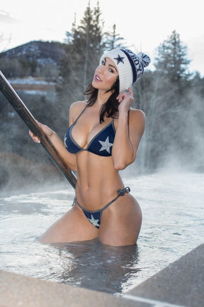 Custom Dallas Star Hope Tie String Bikini