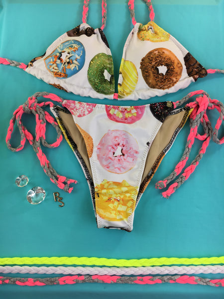Custom Order Donuts/Doughnut Sale extended Limited time***Paradise Donut tie string w/choker $89.99 Or bikini no choker $79.99***(SUIT SOLD PER PIECE OR SET, price varies)