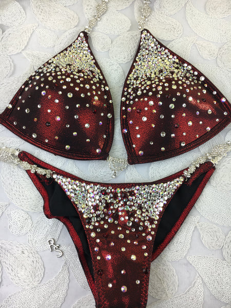 Quick View Competition Bikinis Cranberry Red Bubbles Diamond Princess Extreme Molded cup