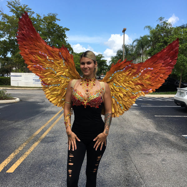Copy of Custom Pheonix Themewear wings $699 (bikini not included)