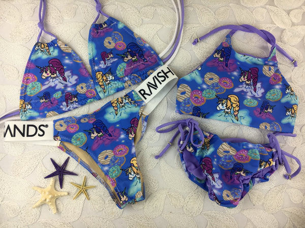Custom Mommy And Me Unicorns (Childs suit is reversible) (may order in any fabric combo we offer)