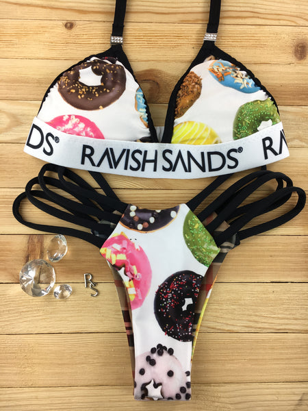 Custom 2:1 Donut/Doughnut Black Ravish Sands Exclusive Logo Monogram multistring***(SUIT SOLD PER PIECE OR SET, price varies)