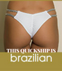 2018 Tan White Silver Trim Floral Multistring Bikini Brazilian Cheeky