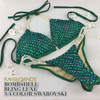 Quick View Competition Bikinis light/dark Green Bombshell Bling Luxe Swarovski Crystals