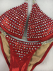 Quick View Competition Bikinis Color crystal Red Bubbles Elite