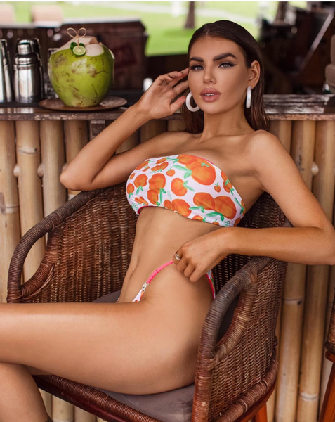 Custom Bandeau 4:1 top Seamless Ravish Peach bikini***(SUIT SOLD PER PIECE OR SET, price varies)