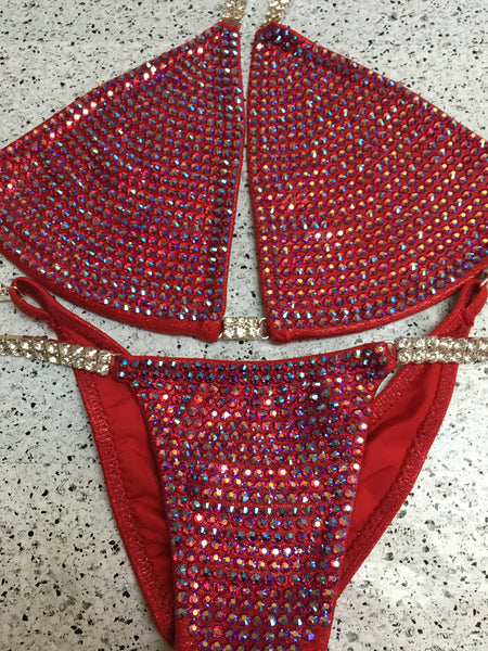 Quick View Competition Bikinis Red Bombshell Bling Luxe