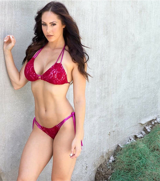 Custom Rosa Tie String Bikini(lace)***(SUIT SOLD PER PIECE OR SET, price varies)