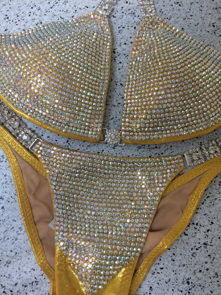 Custom Bombshell Bling DELUXE Luxe(Choose any color swatch/fabric)Competition Bikini