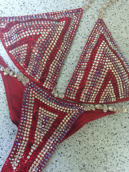 Quick View Competition Bikinis Red Chevron