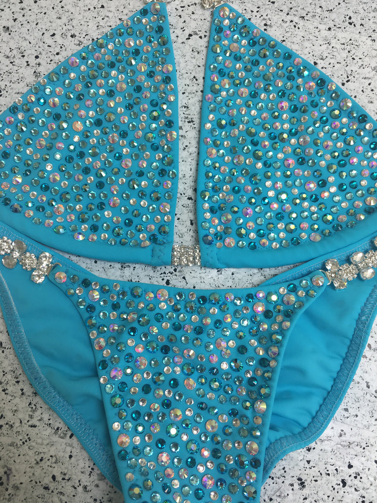 Quick View Competition Bikinis Turquoise Confetti Bliss