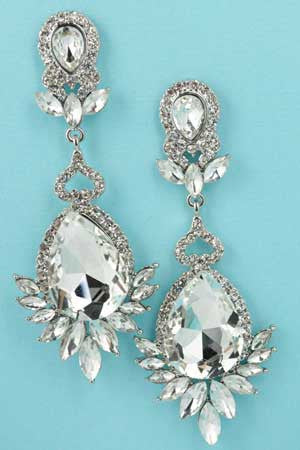 Crystal Chandelier TearDrop Earrings
