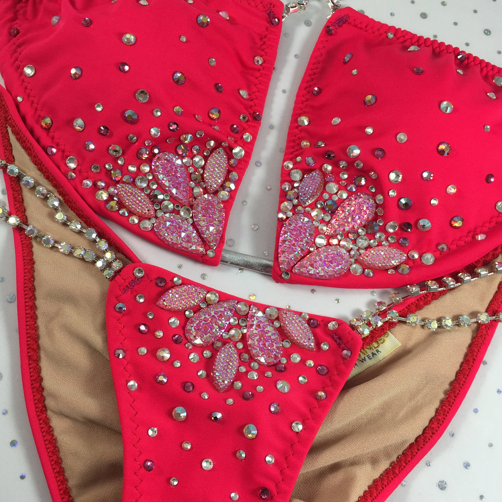 Quick View Competition Bikinis Coral Bedazzled Lilyburst