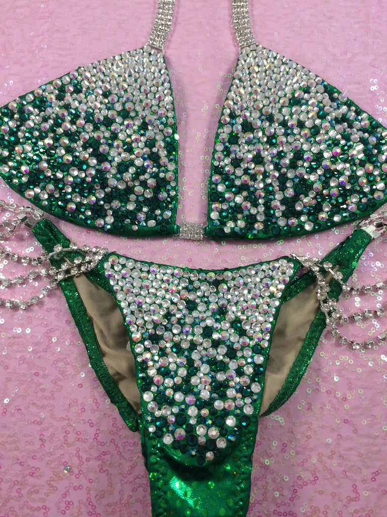 Quick View Competition Bikinis Green Bubble Deluxe Diamond Princess