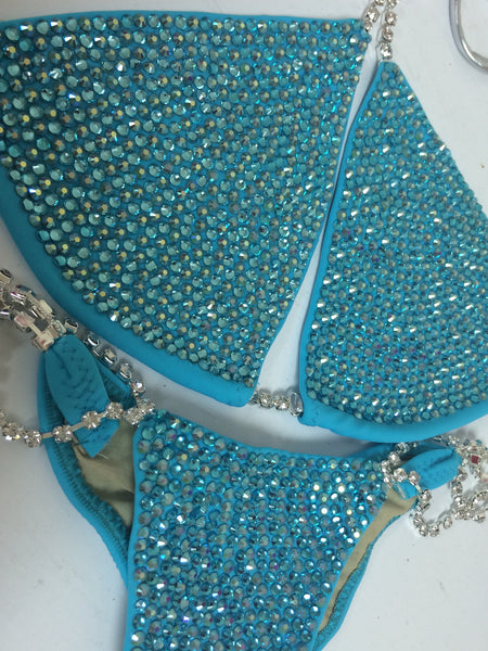Quick View Competition Bikinis Turquoise Bombshell Bling Luxe