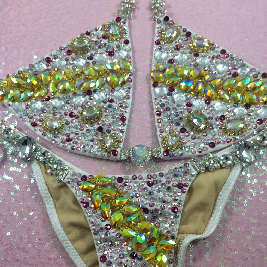 Custom Triangle Style Deluxe Greece Goddess Bling Themewear with wings $999 or bikini only $649