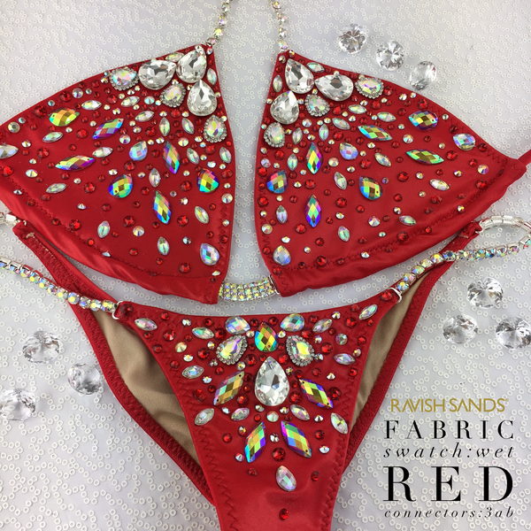 Quick View Competition Bikinis Red Bedazzled Bombshell Elite