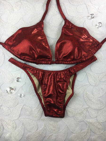 New Cranberry Sparkle ELF $135(Standard Front/Standard Back/A Cup Top)