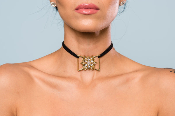 Sunflower Sparkle Choker