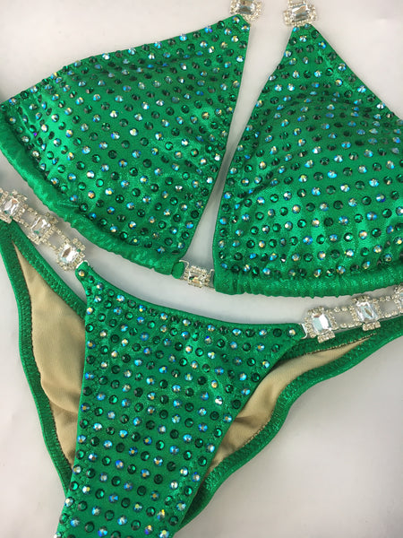 Quick View Competition Bikinis Green Bling Bombshell Celebrity