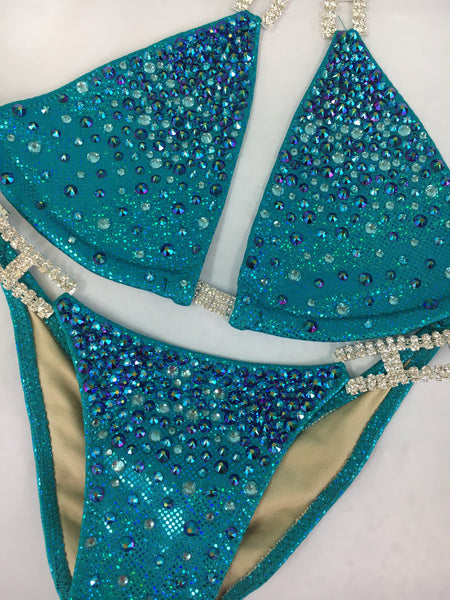 Custom Bubbles Diamond Princess Elite Color crystal Upgrade Competition Bikini