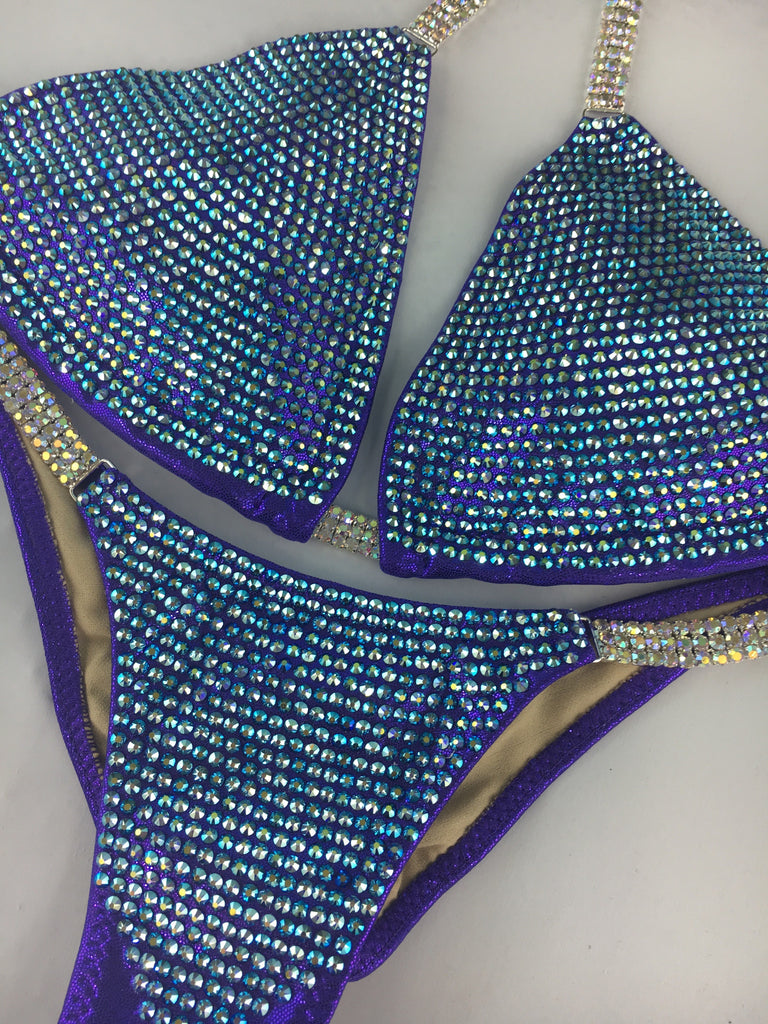 Custom Bombshell Bling DELUXE Luxe (ALL COLOR AB)Competition Bikini