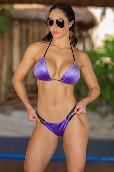 2018 Purple Velvet Band Bikini Midcoverage cheeky (Abby/hope)