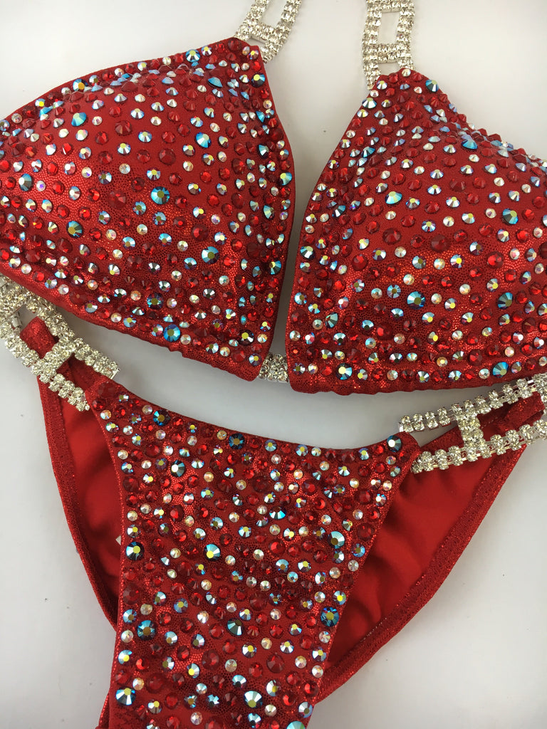 Quick View Competition Bikinis Red Confetti Bliss