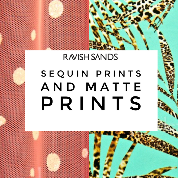 Swim and Competition (Sequin) Bikini Fabric Sample Swatches (8-10 per order) Matte PRINTS Part 3 of 4
