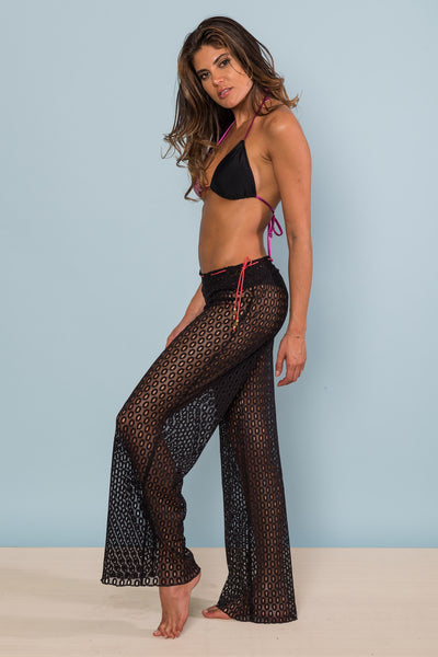 Black Lace CoverUp Pants