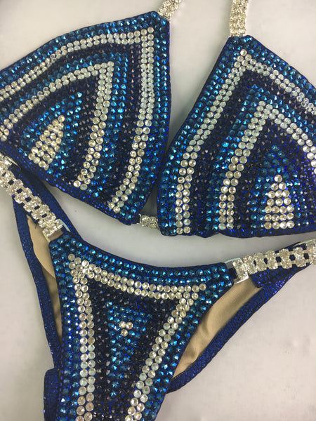 Quick View Competition Bikinis Blue Chevron