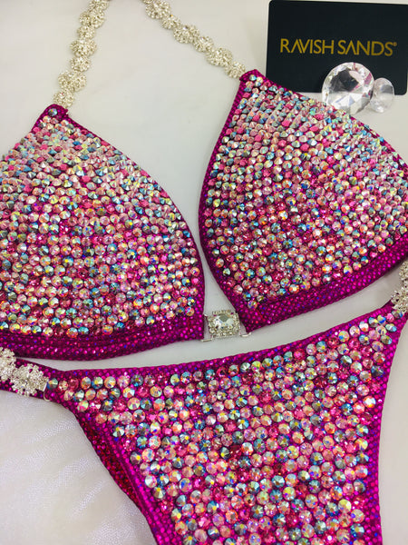 Custom Competition Bikinis Pink  w/molded cup
