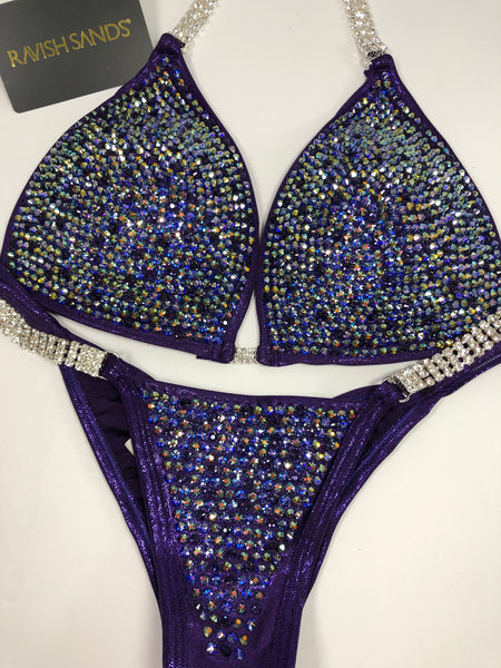 Custom Competition Bikinis Purple Molded cup top