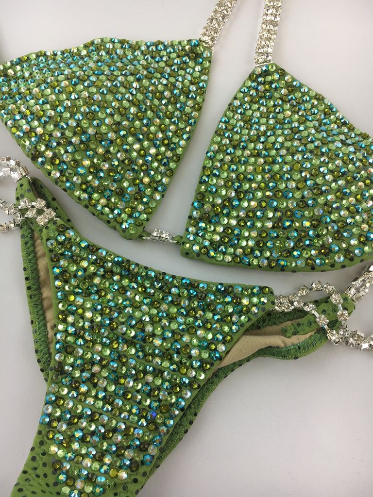 Quick View Competition Bikinis Bombshell Bling Luxe Green Swarovski